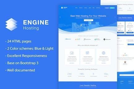 Engine Hosting - HTML Template