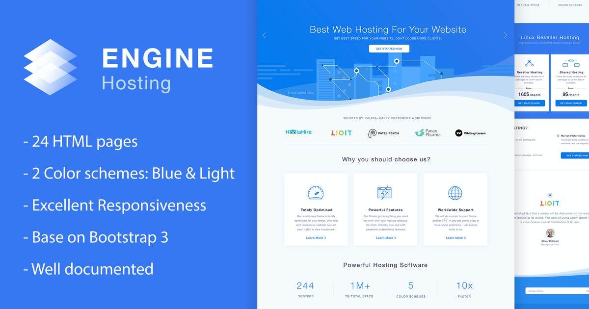 Download Engine Hosting - HTML Template by fruitfulcode