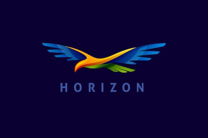 Thumbnail for Buntes dynamisches Flying Bird Logo