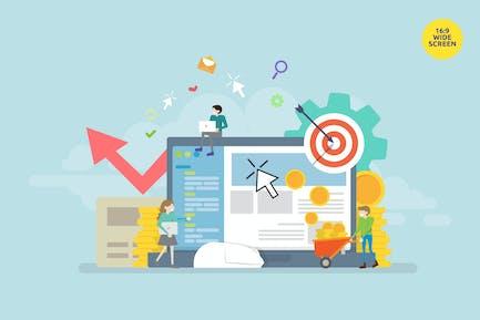 Pay Per Click Advertisement Vector Concept