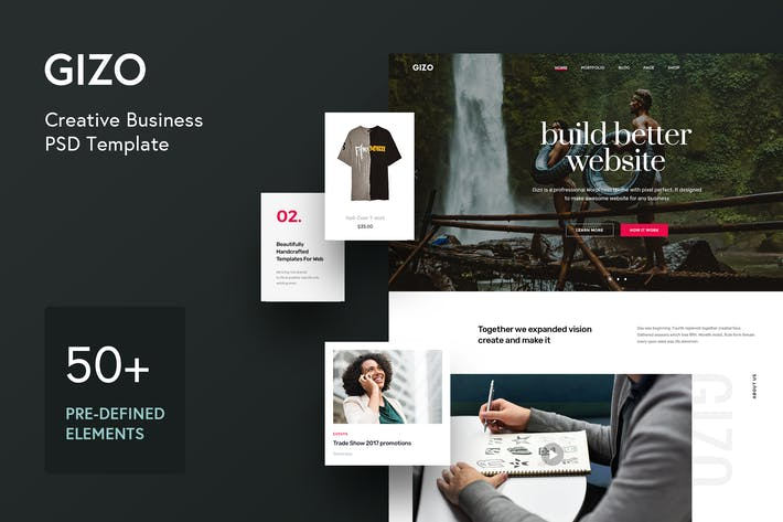 Thumbnail for Gizo - Creative Business PSD Template