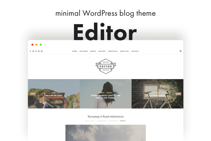 Thumbnail for Editor Blog - A WordPress Blog Theme for Bloggers