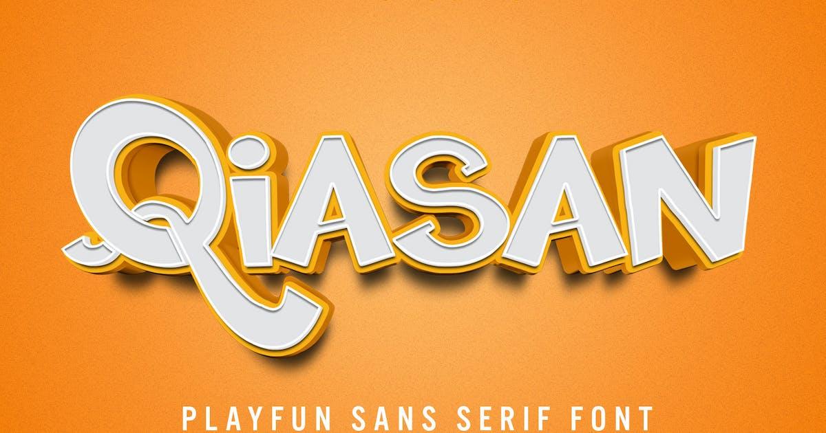 Download Qiasan - Sans Serif Font by aqrstudio