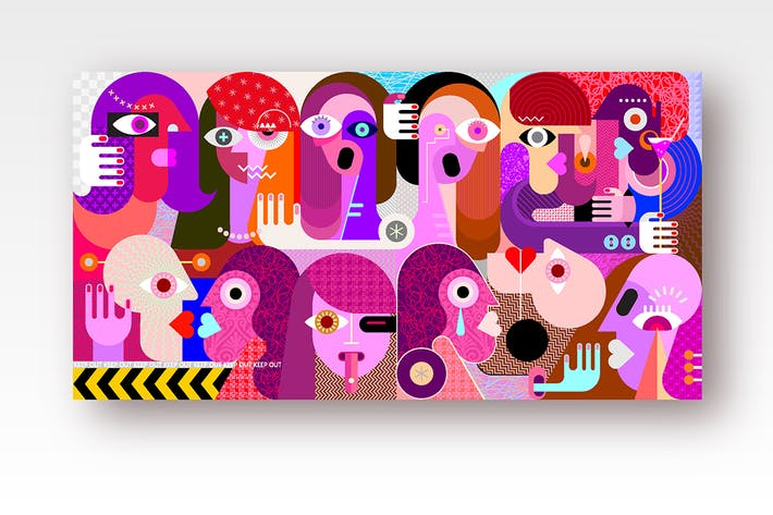 Thumbnail for Large group of people vector illustration