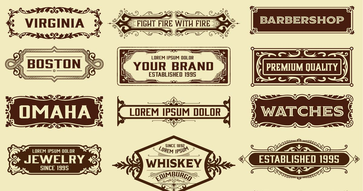 Download Set of Vintage Banners by roverto007