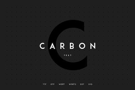 Carbono - Tipo de letra Moderno +WebFonts
