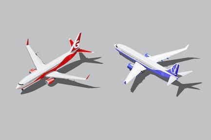 Vector Isometric Passenger Jets