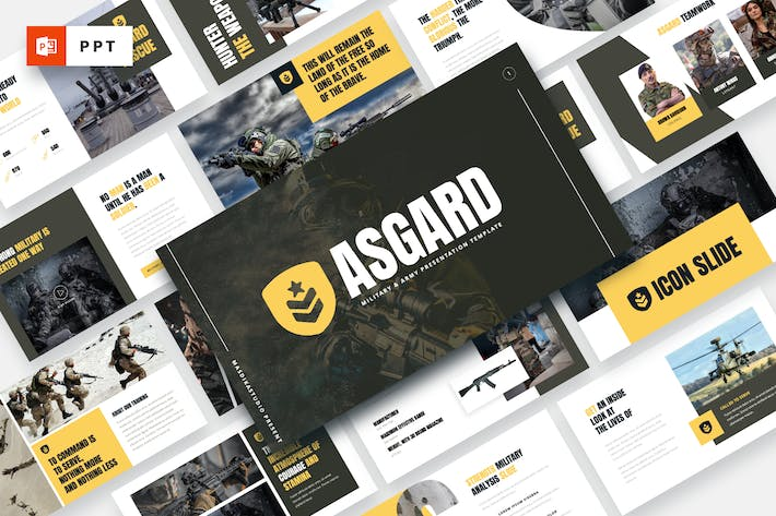 Thumbnail for ASGARD - Military & Army Powerpoint Template