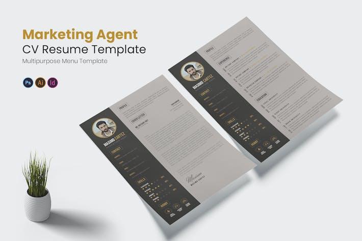 Thumbnail for Marketing Agent CV Resume