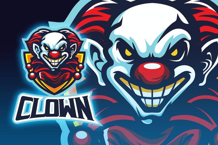 Clown Head Logo Esport Logo