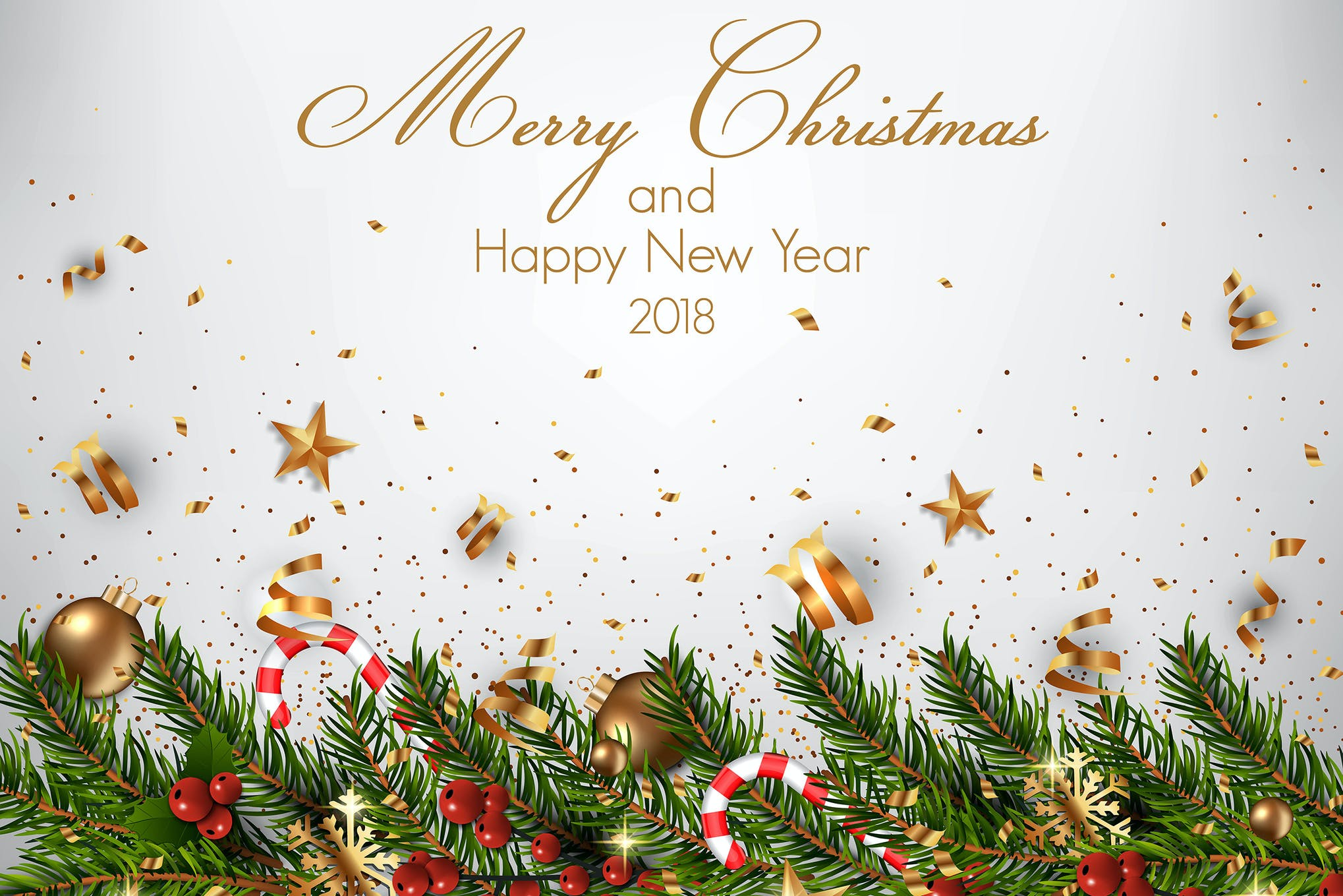 Download Merry Christmas Happy New Year Card