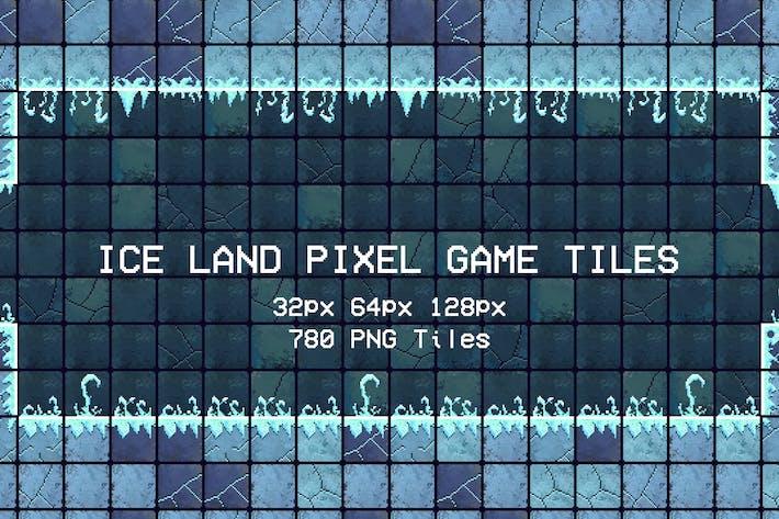 Thumbnail for Ice Land Pixel Game Tiles
