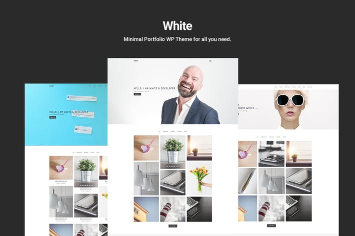 Thumbnail for White – Minimal Portfolio WordPress Theme