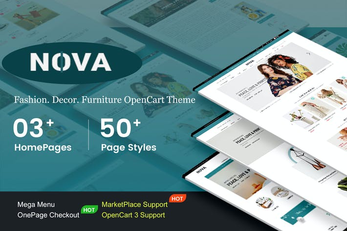 Thumbnail for Nova - Responsivo Fashion OpenCart 3 Tema