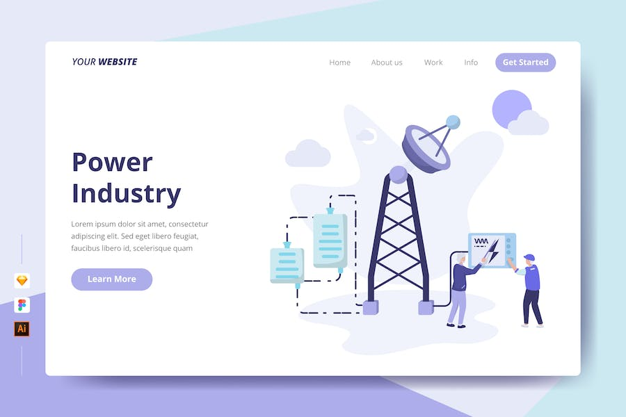 Power Industry - Landing Page