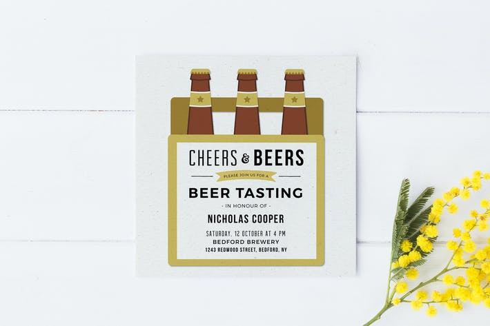 Cover Image For Beer Tasting Party Invitation