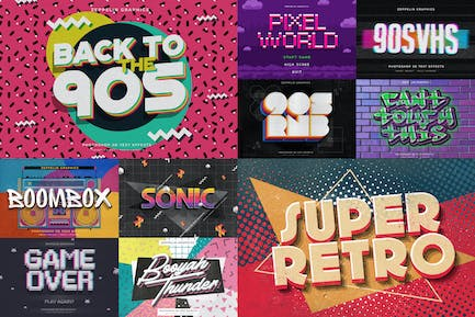 90s Text Effects