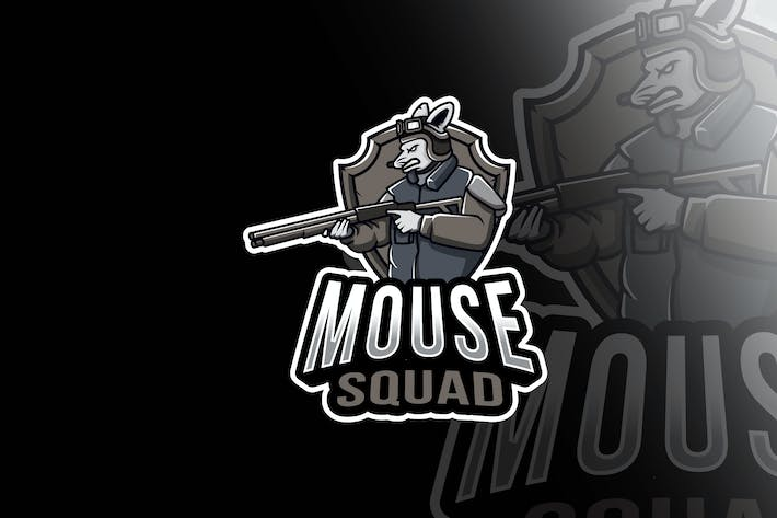 Thumbnail for Mouse Squad Esport Logo Template