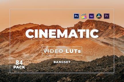 Набор Кинематографическая наборов 84 Видео LUTs