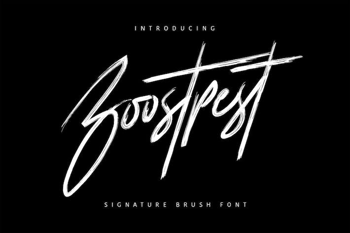Thumbnail for Boostpest Brush Font