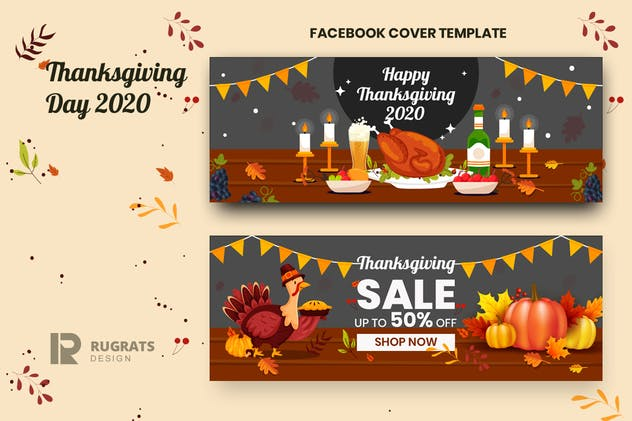 Thanksgiving r1 Facebook Cover Template
