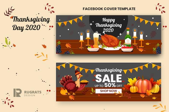 Thanksgiving r1 modèle de couverture Facebook