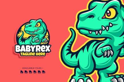 Baby T-Rex Cartoon Character Business Logo