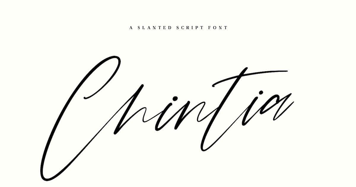 Download Chintia Slanted Script Brush Handmade Beauty Font by maulanacreative