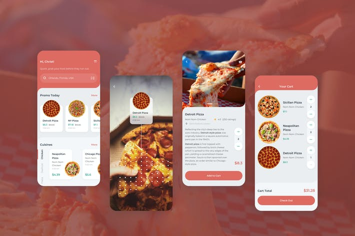 Thumbnail for Order Food Mobile App UI - FD
