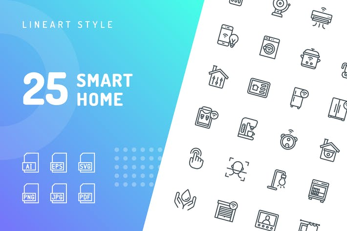 Thumbnail for Smart Home Line Icons