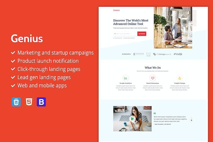 Thumbnail for Genius - Premium HTML Landing Page Template