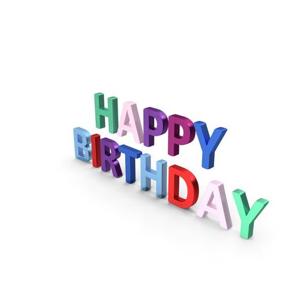 Thumbnail for Happy Birthday Symbol Multicoloured