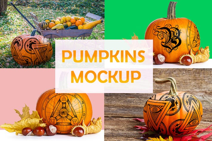 Thumbnail for Pumpkins mockups