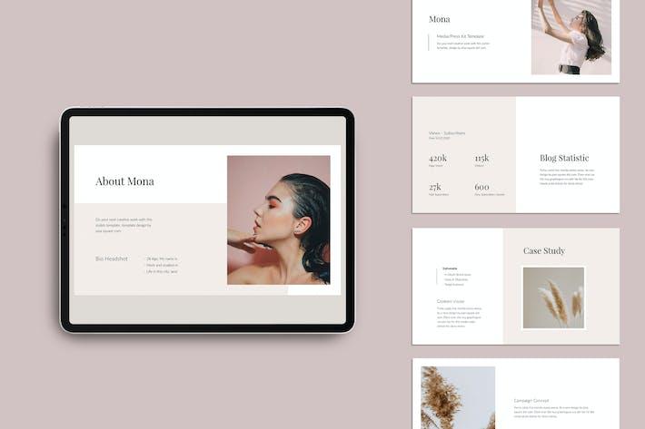 Thumbnail for MONA - Media/Press Kit Powerpoint Template