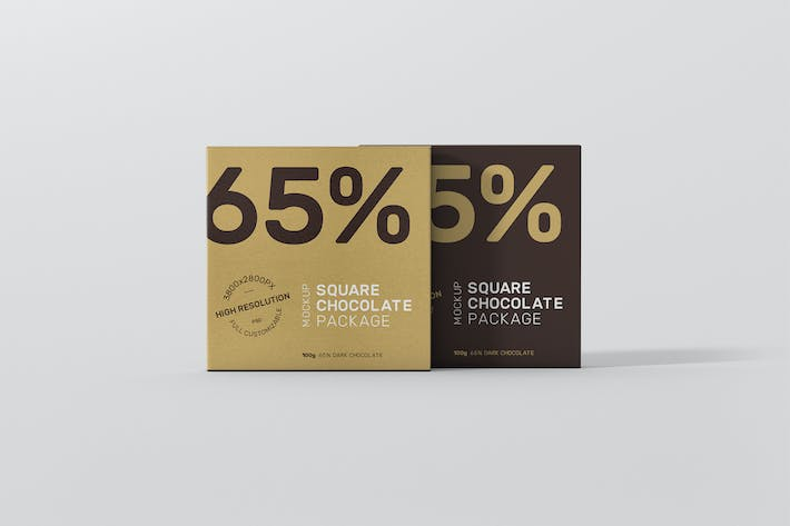 Thumbnail for Chocolate Packaging Mockup Square Size