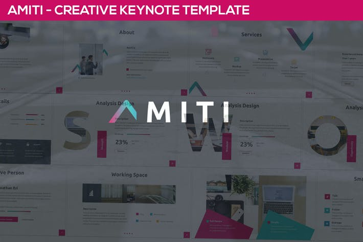 Thumbnail for Amiti - Kreative Keynote Vorlage