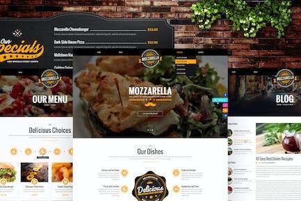 Mozzarella - Restaurant, Cafe & Bar HTML-Vorlage