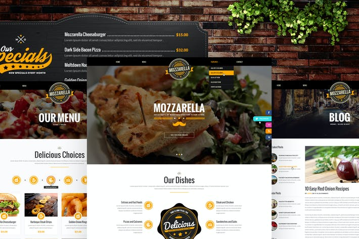 Mozzarella - Restaurant, Cafe & Bar HTML Template