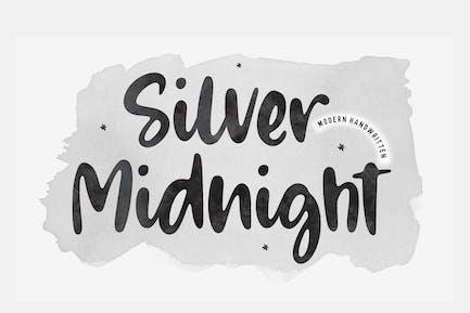 Silver Midnight Script Font YH