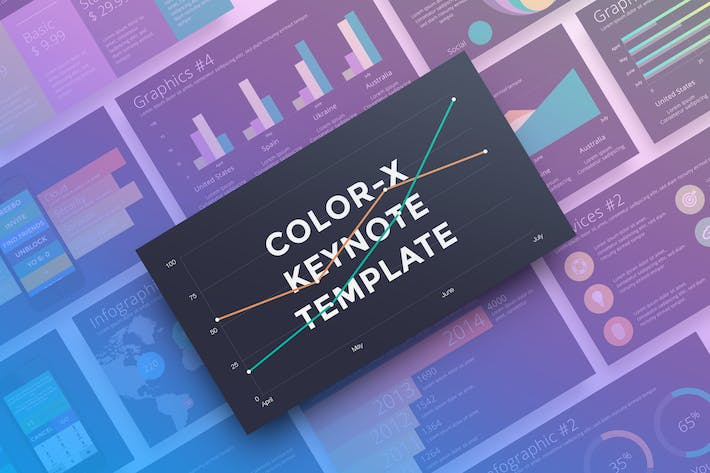 Thumbnail for Color-X Keynote Template