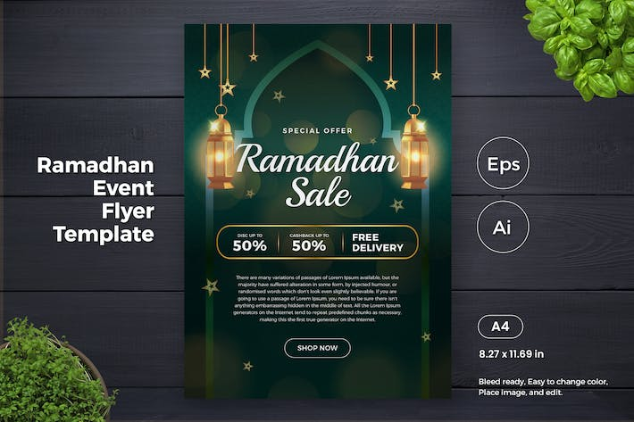 Thumbnail for Ramadan Sales Promotion Flyer Template (GI)