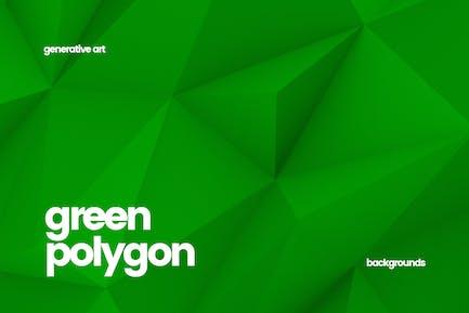 Grüne Polygon-Hintergründe