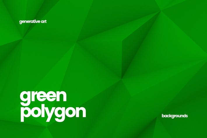 Thumbnail for Green Polygon Backgrounds
