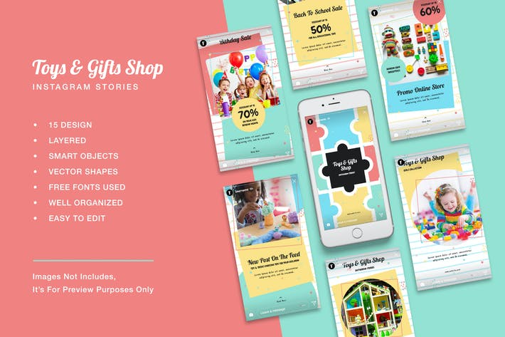Thumbnail for Toys & Gift Shop Instagram Stories
