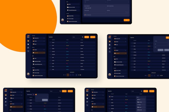 Thumbnail for 29Foodie Food Admin Payment Ui - FP