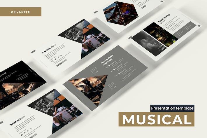 Thumbnail for Музыкальный - Шаблон Keynote