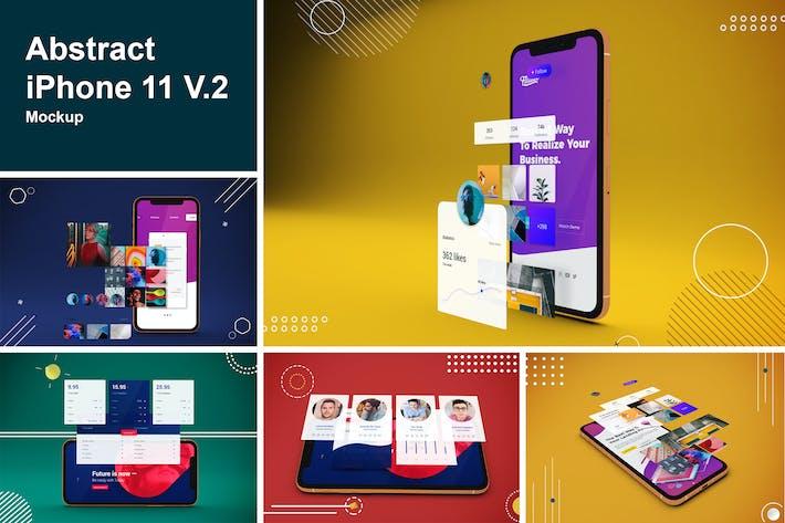 Thumbnail for Abstract iPhone 11 Mockup V.2
