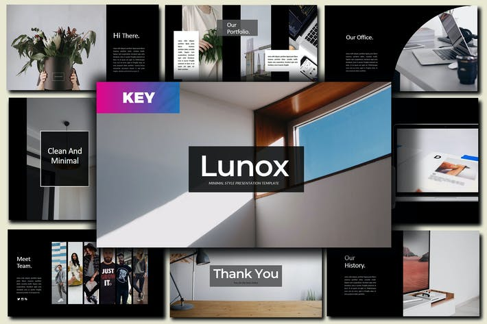 Thumbnail for Lunox  Dark - Keynote Template