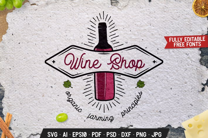 Thumbnail for Winery Vintage Badge, Retro Wine Vector Label