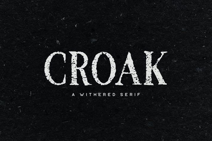 Thumbnail for Croak Typeface